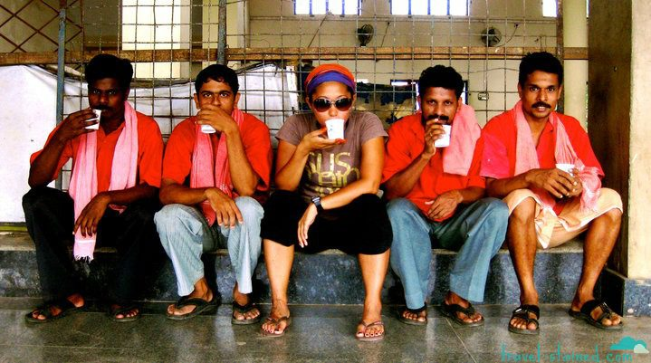 Just having a morning chai with new friends in Bangalore