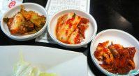 Kimchi and marinated raw crab
