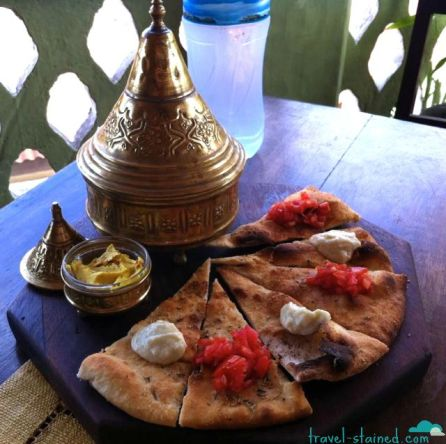 Pita and dips in Stone Town