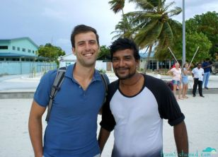 With Tiger, one of the local Maldivians