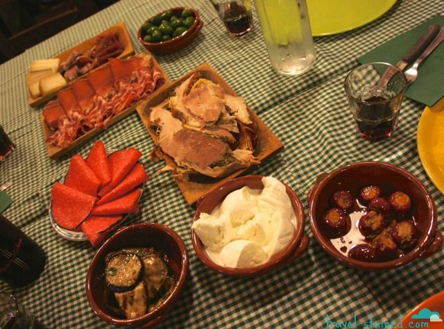To die for antipasto in Arricia