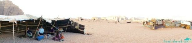 Having tea with some Bedouins