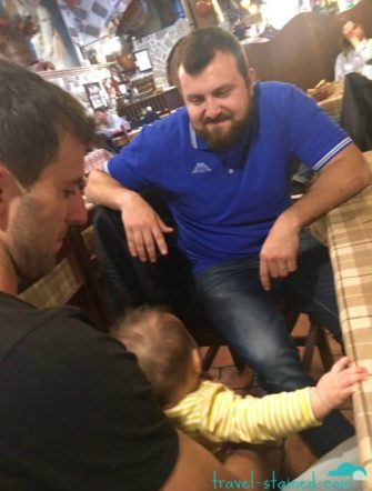 Meeting Uncle Andrea for the first time