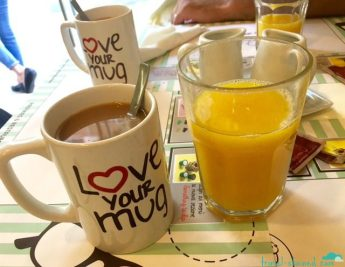 Fresh squeezed OJ and filter coffee