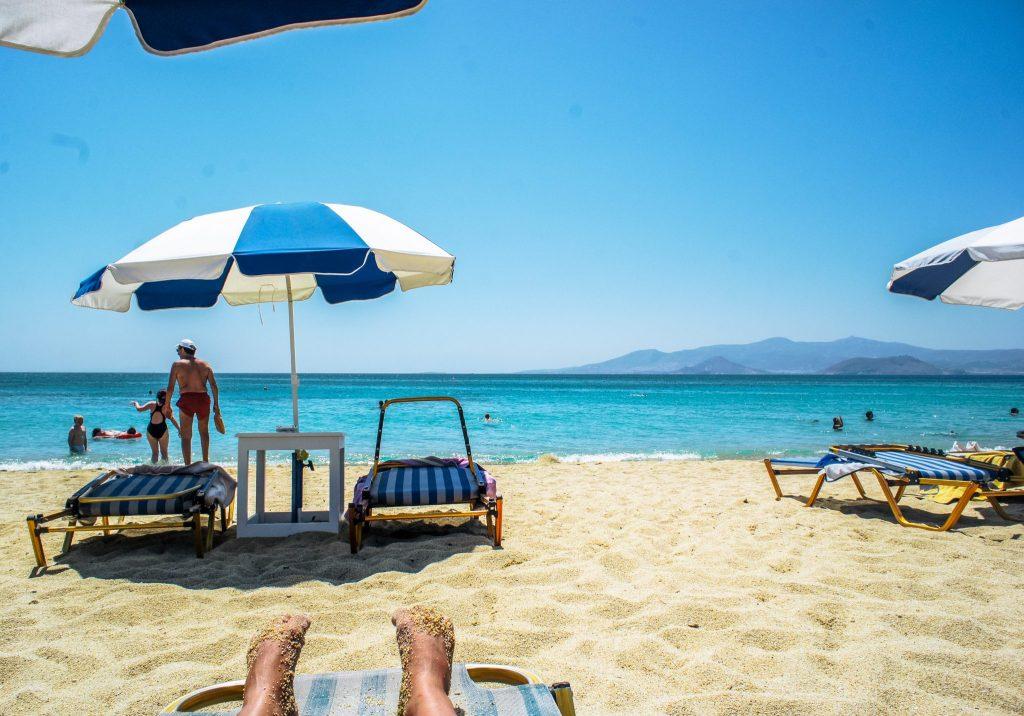 agios prokopios beach in naxos, greece