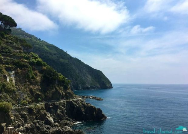 The cliffside Via Dell Amore near Riomaggiore was unfortunately closed during our visit, but it was stunning to look at nonetheless.