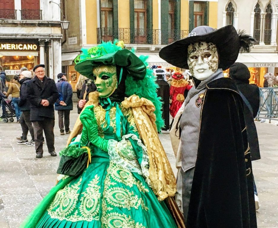 venice italy during carnival in winter
