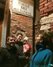 On the Calle dei Albanesi, with um...the Albanians