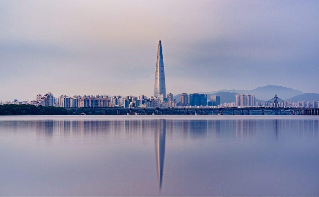 lotte world tower in seoul korea
