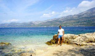 beautiful blue water of badija island