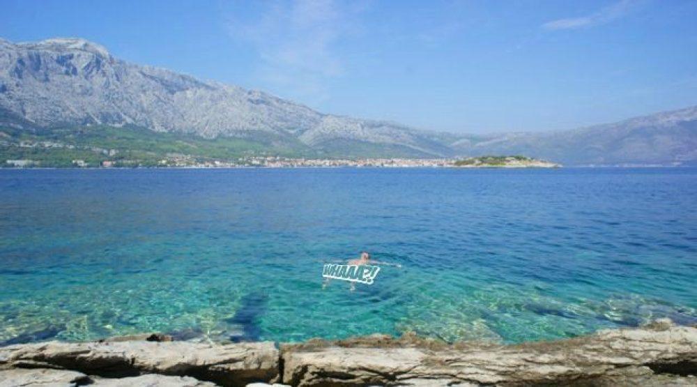 nude swimming in badija croatia