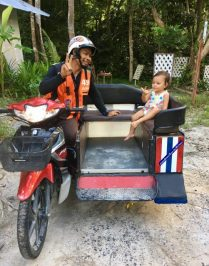 My first motorcycle taxi ride