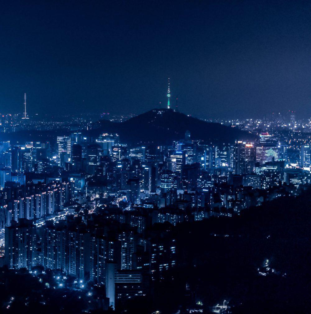 Namsan N Seoul Tower at night