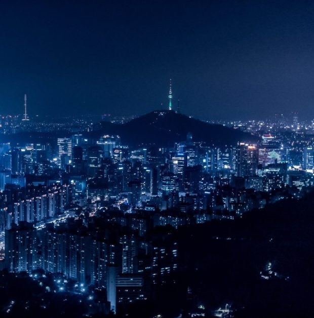 Namsan N Seoul Tower at night