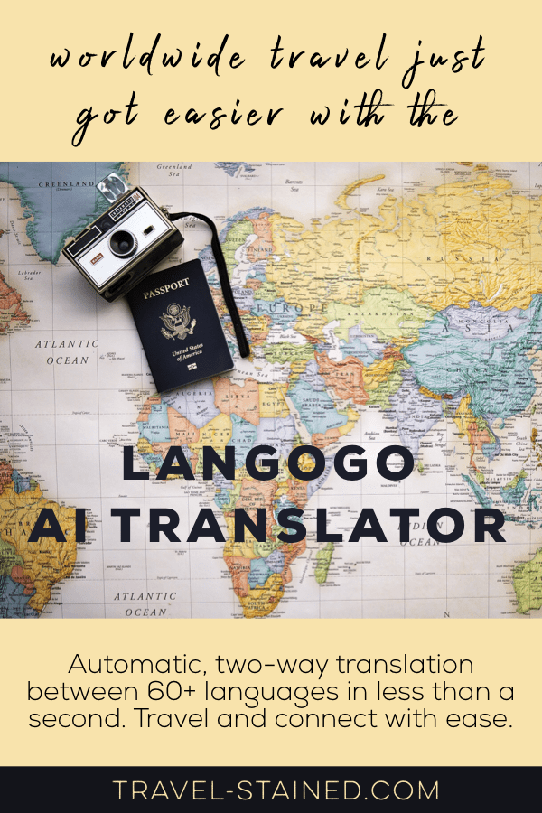 The Langogo AI Translator is a game changer for worldwide travel and expat life. It offers automatic, two-way translation between 60+ languages with the press of a button! #worldwidetravel #translator #langogo #voicetranslator #traveltheworld #portabletranslator #aiproducts