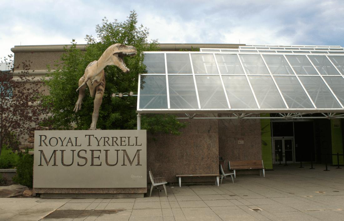 royal tyrrell museum entrance in drumheller