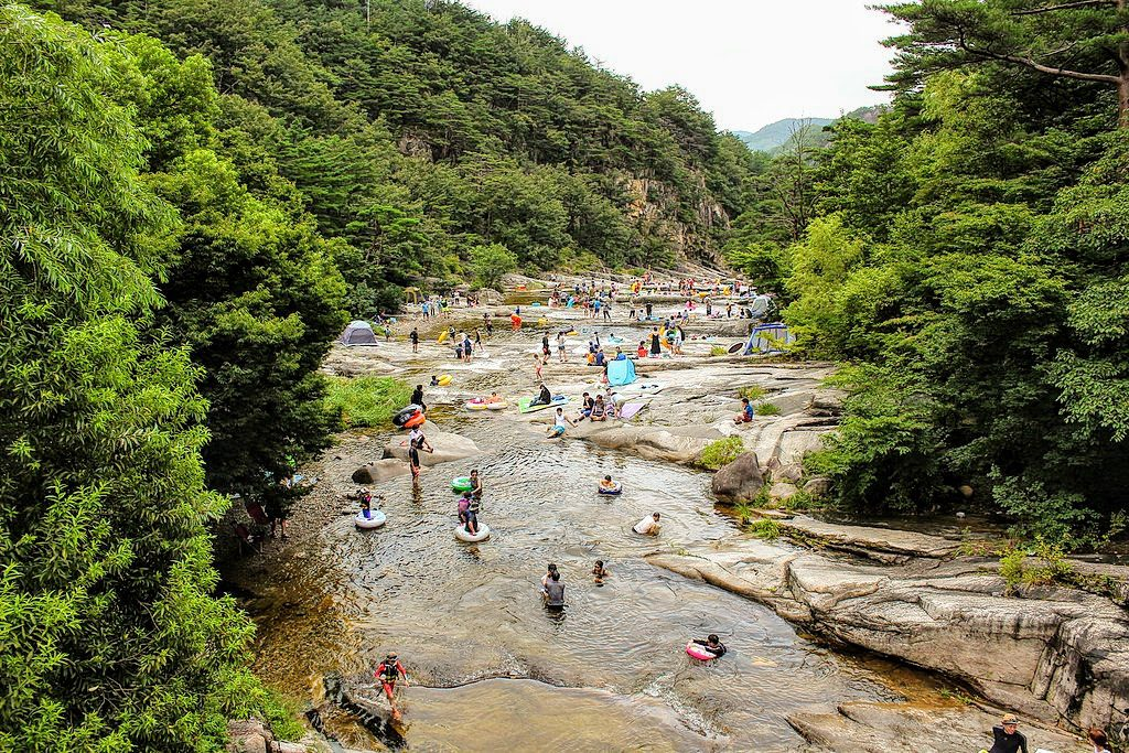 summer in seoul mountain stream