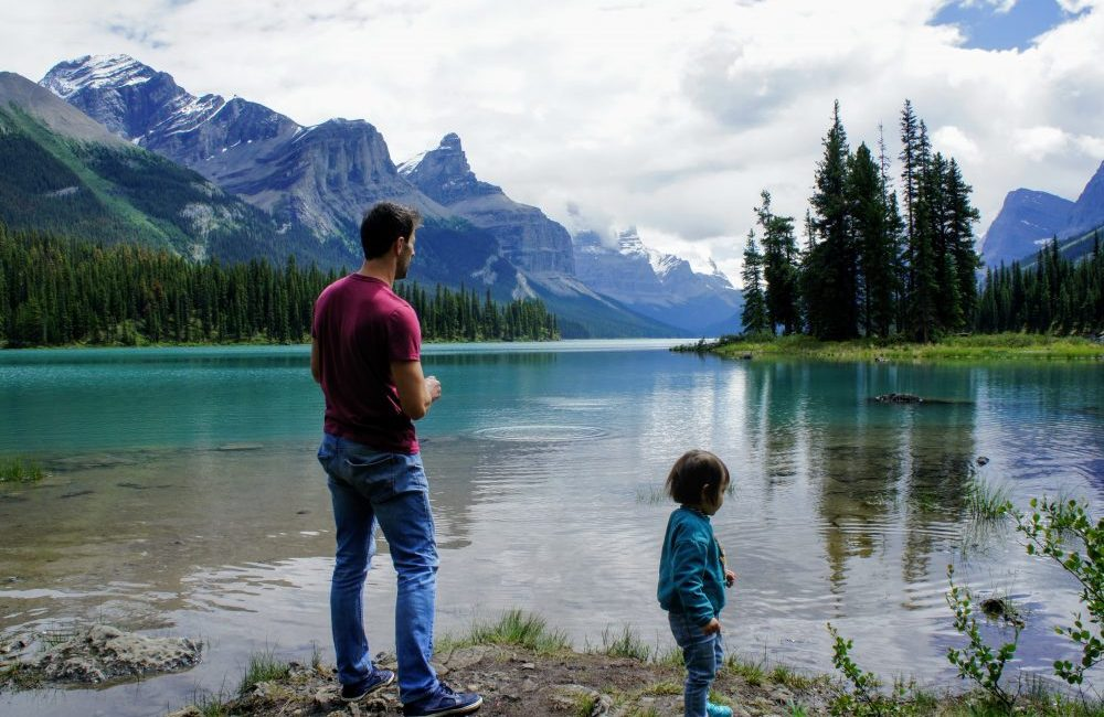 Jasper Spirit Island on Maligne Lake