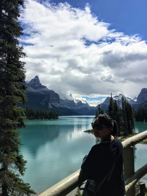 maligne lake and the hall of gods