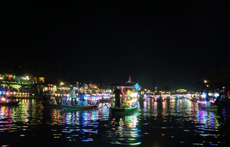 taking a lantern lit boat ride was one of the best things to do in hoi an