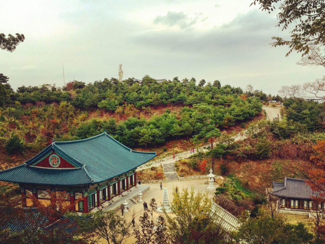 Naksansa temple in autumn