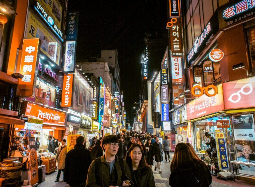 streets of myeongdong seoul at night, hotels in myeongdong