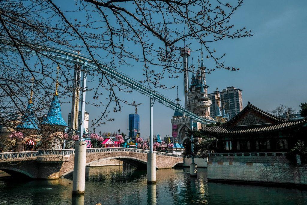 lotte world magic island on seokchon lake