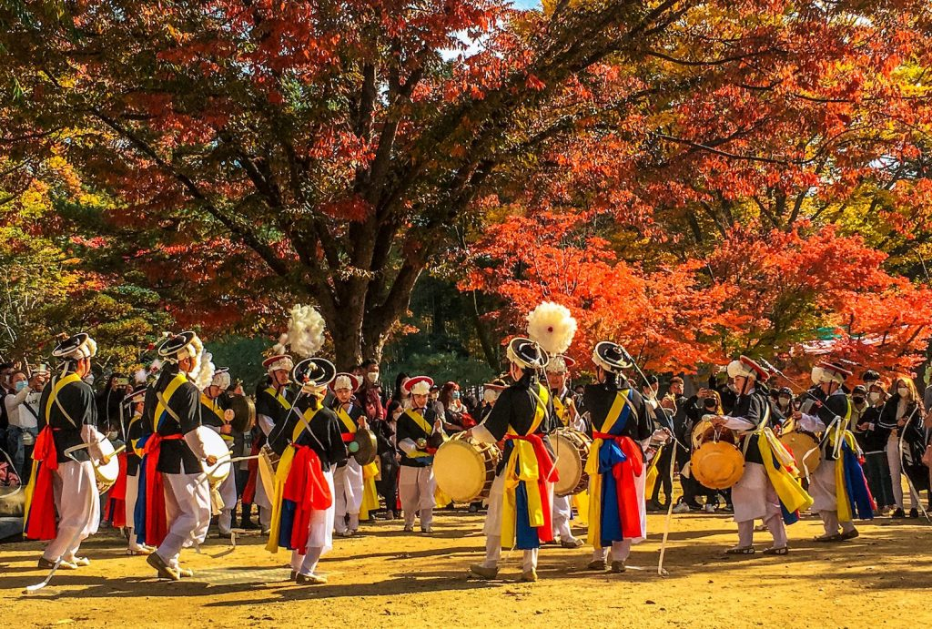 nami island in autumn