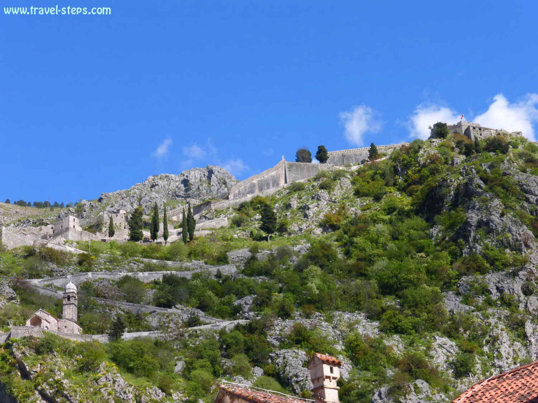 Backpacking Montenegro Town Walls Kotor Fortress Of Saint Ivan