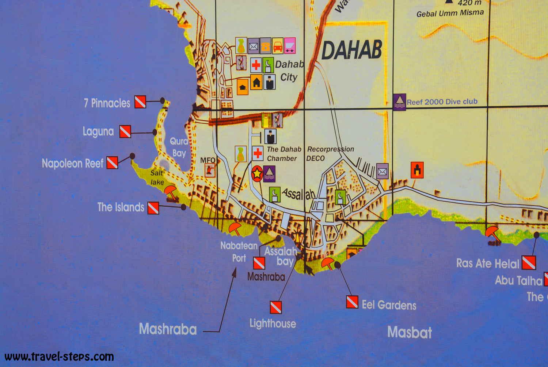 Backpacking Tips Egypt Travel Steps - Map of egypt dahab