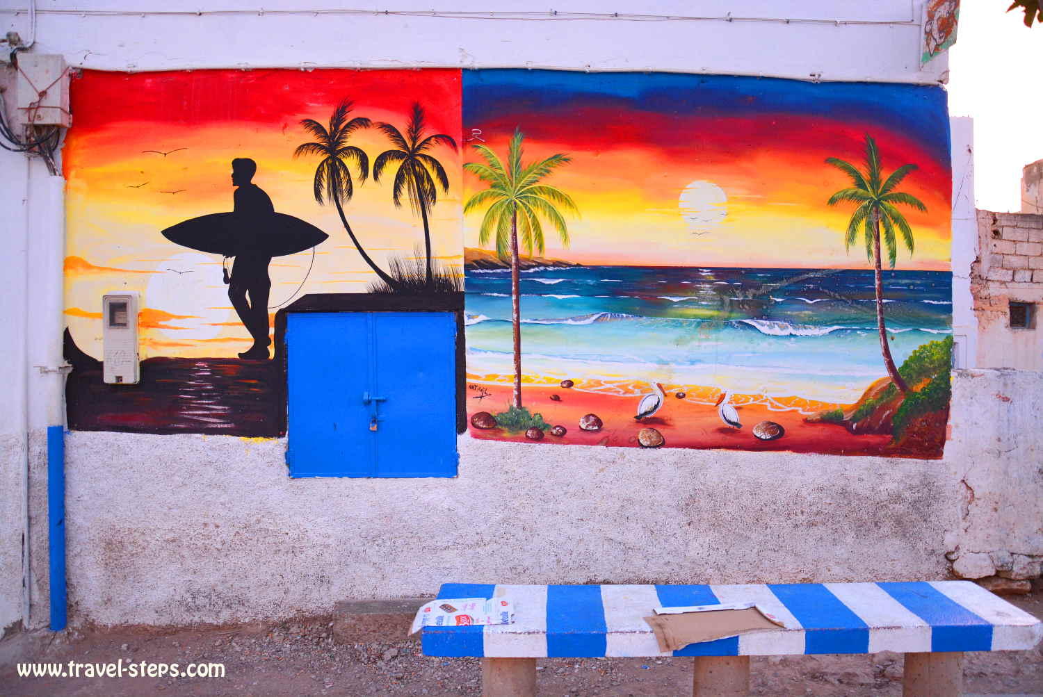 backpacking tips taghazout morocco travel steps street art in taghazout morocco