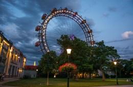 Парк Пратер в вечернее время суток (фотогалерея)
