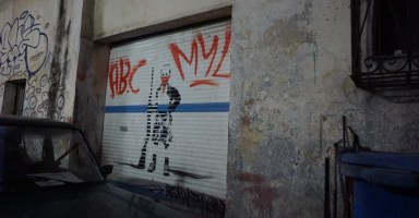CASA近くにあった社会主義国らしい落書き
