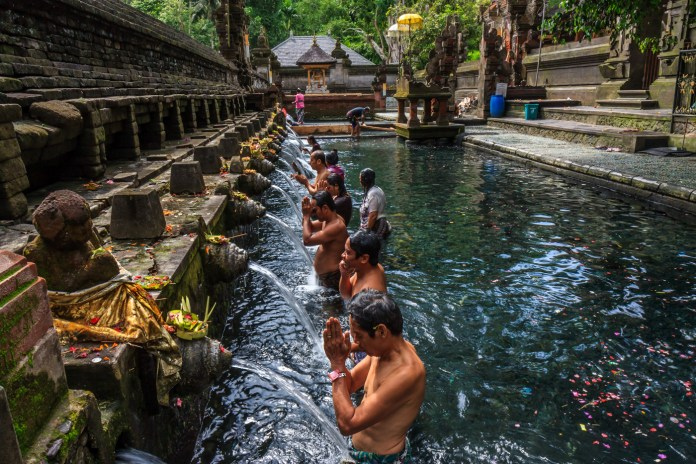 Pura Tirta Empul is a significant Balinese Hindu water temple, uncovered in around AD 962. Image: www.terrytreks.com