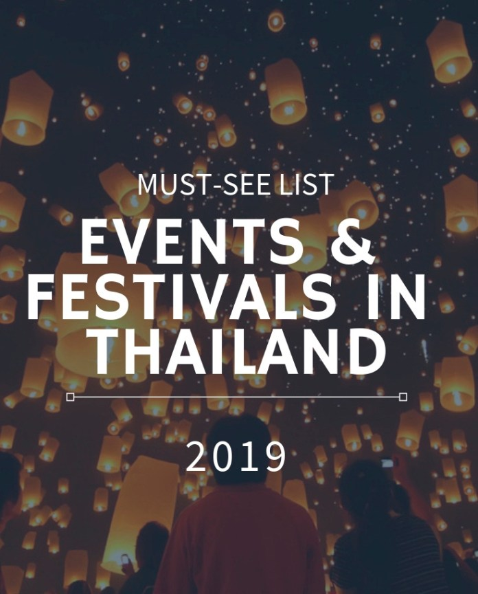 events and festivals in Thailand in 2019