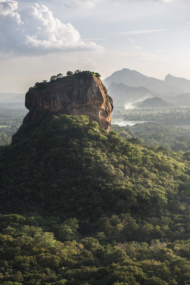 This is actually the ancient Rock Fortress of Sri Lanka!