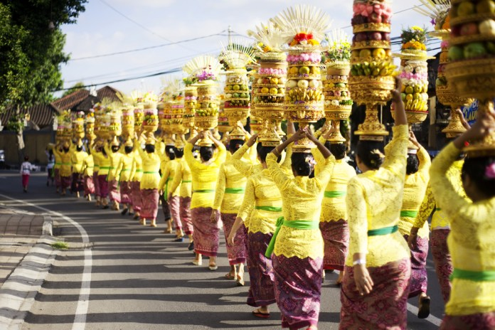 Come together to celebrate with the Hindu community in Bali.