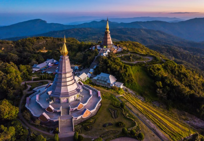pagoda in Doi Inthanon National Park Chiang Mai,