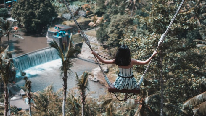 For the most epic memories, try the Bali swing experience!