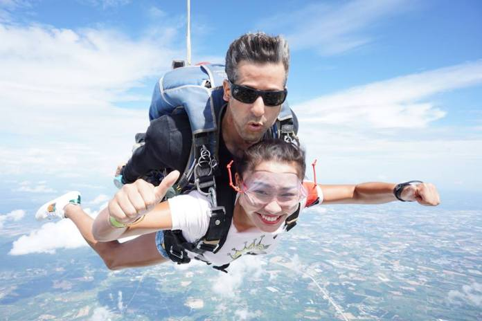 Sky diving is the ultimate dare devil experience