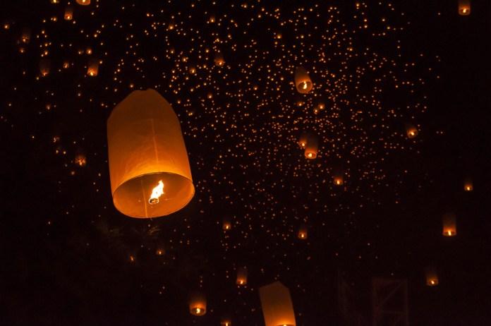 Light festival in Koh Samui