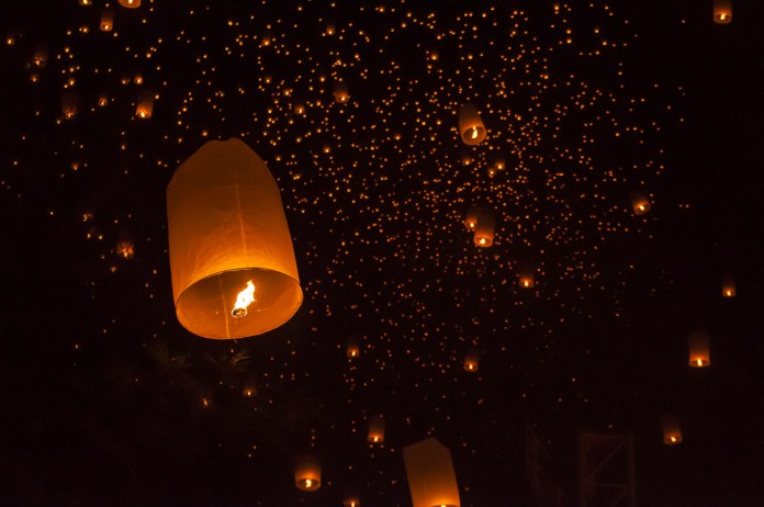 Light festival in Koh Samui
