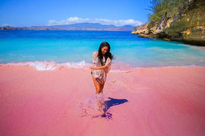 Serai Beach is one of only eight pink beaches in the world