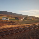 Scenic Amtrak Train Harrisburg to Pittsburg Pennsylvania