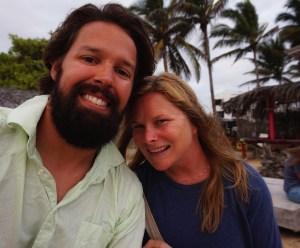 Galapagos sunset selfie