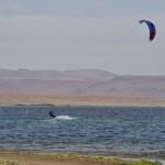 Kiteboarding in Paracas, Peru