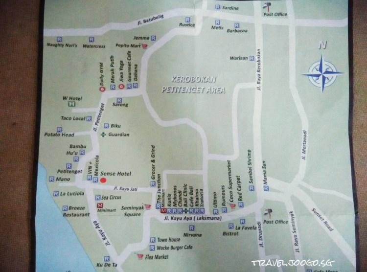 Bali Seminyak Map - travel.joogo.sg