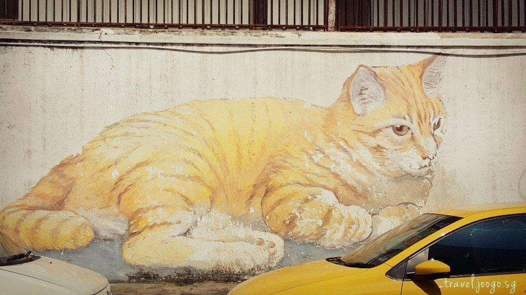 Penang Cat Mural - travel.joogostyle.com