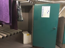industrial-size drying closet