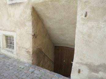 steep basement steps